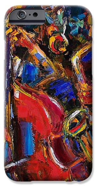 Jazz iPhone Case by Debra Hurd