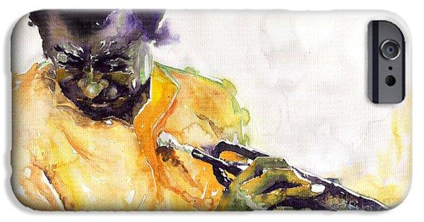 Miles-davis iPhone Cases - Jazz Miles Davis 7 iPhone Case by Yuriy  Shevchuk