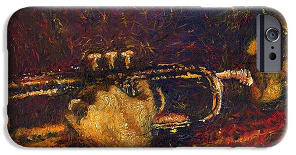 Miles-davis iPhone Cases - Jazz Miles Davis  iPhone Case by Yuriy  Shevchuk