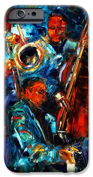 Jazz Pals iPhone Case by Debra Hurd
