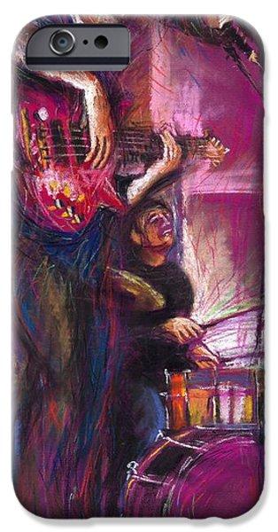 Pastel iPhone Cases - Jazz Purple Duet iPhone Case by Yuriy  Shevchuk