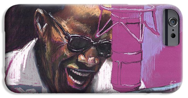 Artwork Drawings iPhone Cases - Jazz Ray iPhone Case by Yuriy  Shevchuk