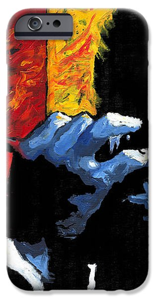 Jazz Trumpeters iPhone Case by Yuriy  Shevchuk
