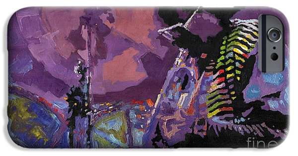 Miles-davis iPhone Cases - Jazz.Miles Davis.4. iPhone Case by Yuriy  Shevchuk