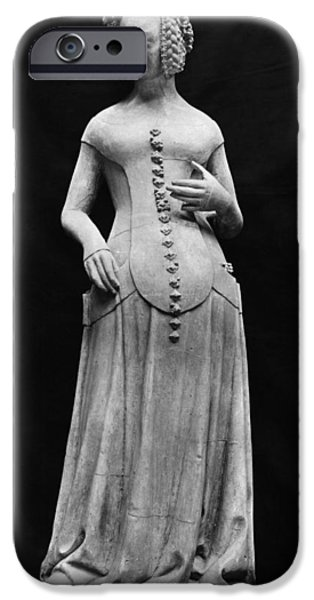 Statue Portrait iPhone Cases - Jeanne Ii Dauvergne iPhone Case by Granger