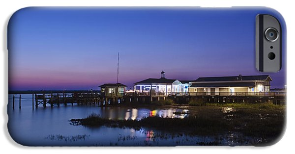 Man Made Space iPhone Cases - Jekyll Island Jekyll Island Pier iPhone Case by Rob Tilley