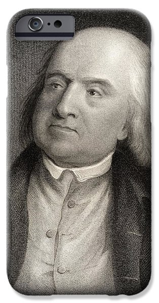 Jeremy iPhone Cases - Jeremy Bentham 1748 To 1832 English iPhone Case by Ken Welsh