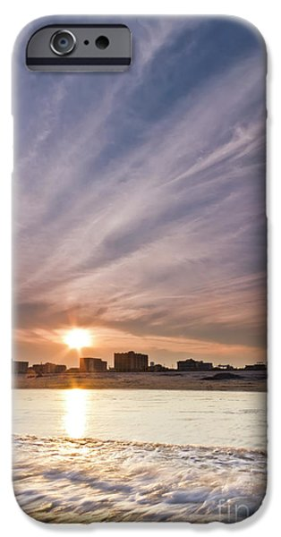 Jersey Shore iPhone Cases - Jersey Shore Wildwood Crest Sunset iPhone Case by Dustin K Ryan