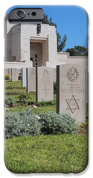 Final Resting Place Photographs iPhone Cases - Jerusalem British war cemetery iPhone Case by Noam Armonn