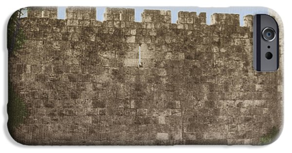 Historic Site iPhone Cases - Jerusalem City Wall, Historic Site iPhone Case by Photo Researchers