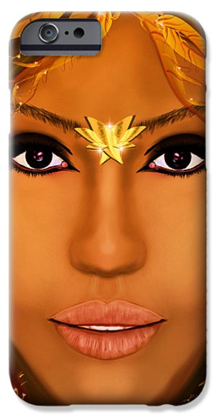Jessica Alba iPhone Cases - Jessica Alba Fairy Tale iPhone Case by Mathieu Lalonde