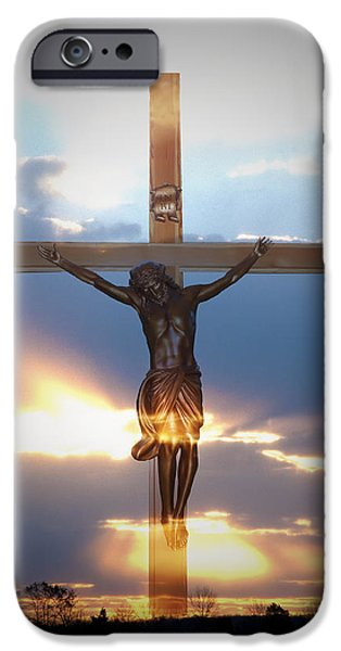 Jesus Crucifiction iPhone Cases - Jesus iPhone Case by Bill Cannon