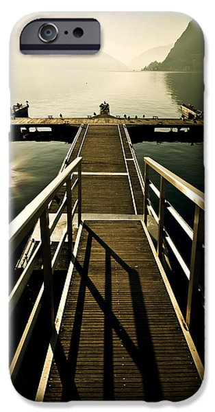 Docked Boat iPhone Cases - Jetty iPhone Case by Joana Kruse