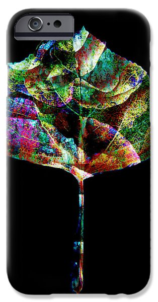 Jewel Tone Leaf iPhone Case by Ann Powell