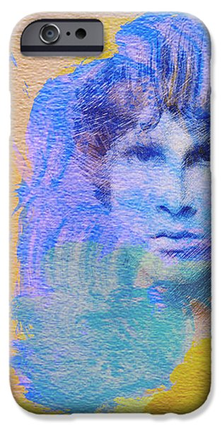 Jim Morisson iPhone Case by Naxart Studio