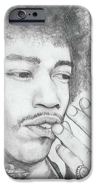 Jimi Hendrix Artwork iPhone Case by Roly Orihuela