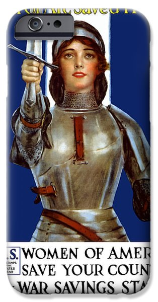One iPhone Cases - Joan of Arc Saved France iPhone Case by War Is Hell Store