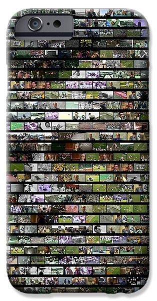 Mosaic iPhone Cases - Joe Paterno Mosaic iPhone Case by Paul Van Scott