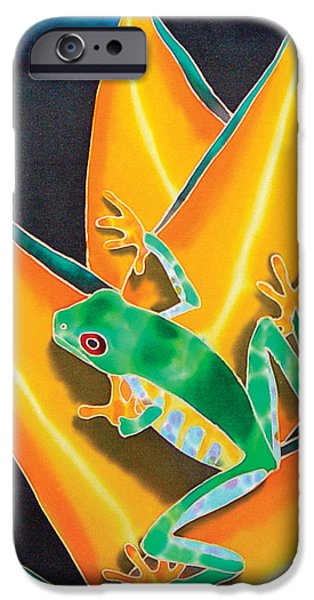 Garden Tapestries - Textiles iPhone Cases - Joes Treefrog iPhone Case by Daniel Jean-Baptiste