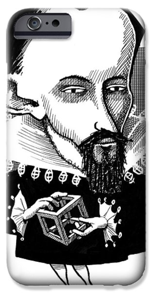 Johannes Kepler, Caricature iPhone Case by Gary Brown
