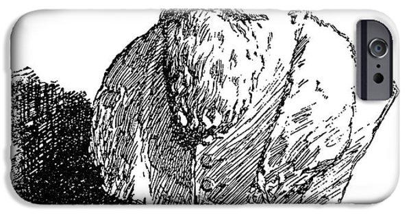 Statue Portrait iPhone Cases - John Amos Comenius iPhone Case by Granger