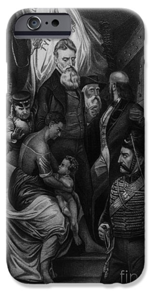 John Brown Meeting Slave Mother iPhone Case by Photo Researchers