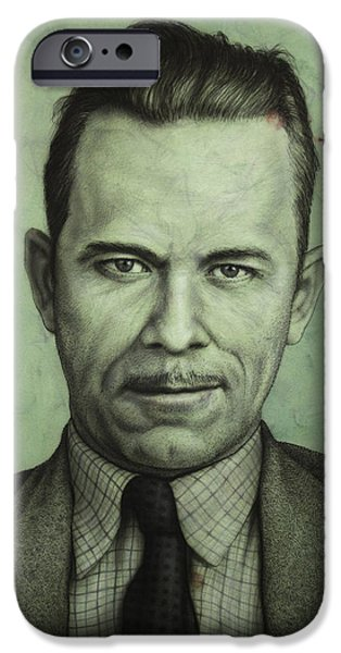 Public iPhone Cases - John Dillinger iPhone Case by James W Johnson