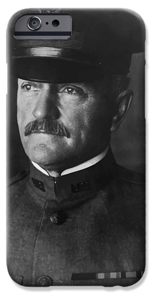 Wwi Digital Art iPhone Cases - John J. Pershing iPhone Case by War Is Hell Store