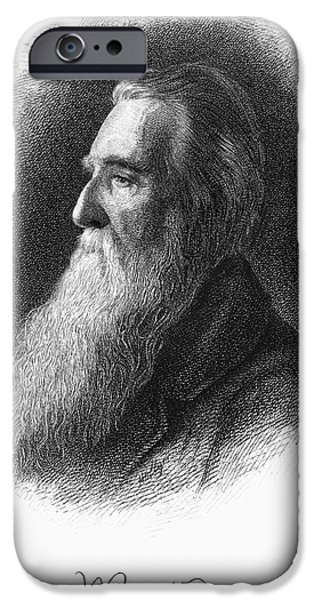 Autographed Drawings iPhone Cases - John Ruskin iPhone Case by Granger