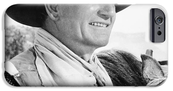 1950s Movies iPhone Cases - John Wayne (1907-1979) iPhone Case by Granger
