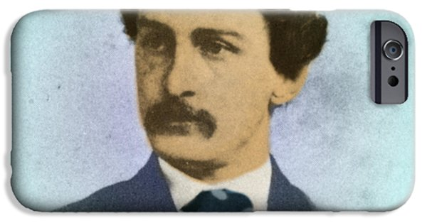 President iPhone Cases - John Wilkes Booth, Assassin iPhone Case by Photo Researchers