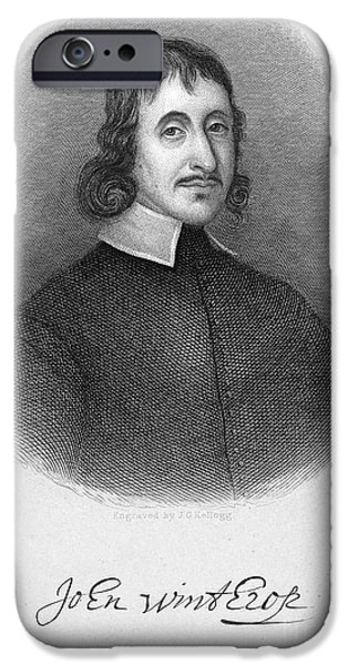 JOHN WINTHROP THE YOUNGER iPhone Case by Granger