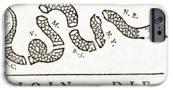 Recently Sold -  - Franklin iPhone Cases - Join Or Die French And Indian War iPhone Case by Photo Researchers