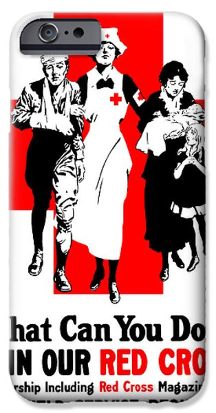 Wounded iPhone Cases - Join Our Red Cross iPhone Case by War Is Hell Store