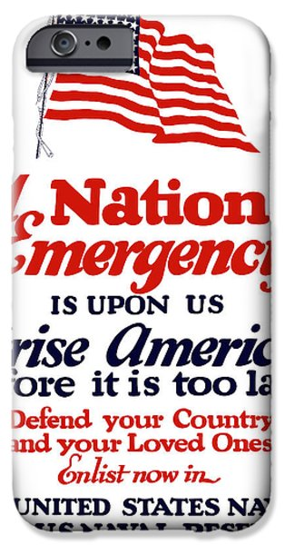 Flag iPhone Cases - Join The Navy iPhone Case by War Is Hell Store