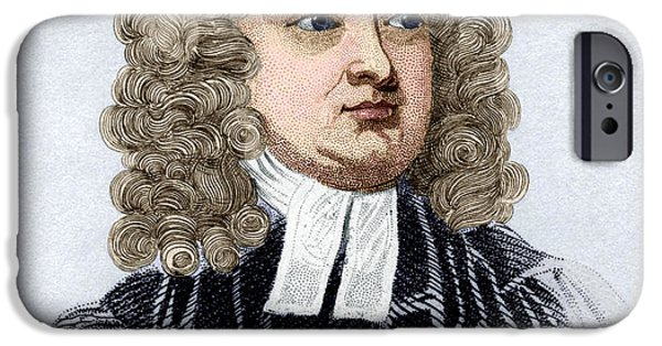 Gullivers iPhone Cases - Jonathan Swift, English Author iPhone Case by Sheila Terry