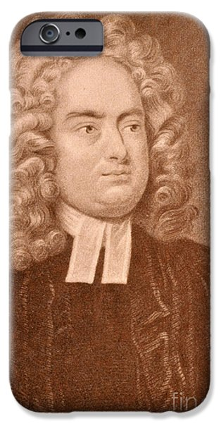 Gullivers iPhone Cases - Jonathan Swift iPhone Case by Photo Researchers
