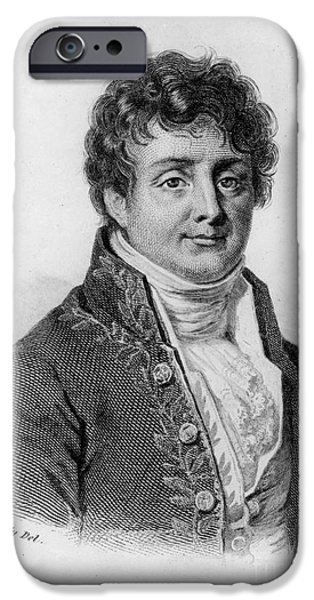 Fury iPhone Cases - Joseph Fourier, French Mathematician iPhone Case by Photo Researchers, Inc.