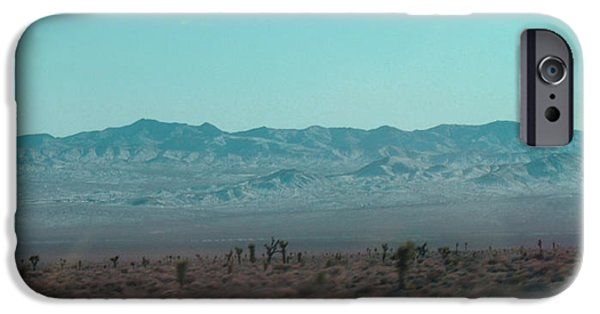 Rural Landscapes iPhone Cases - Joshua Trees iPhone Case by Naxart Studio