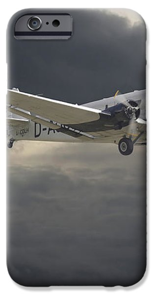 Ju52 -- Iron Annie iPhone Case by Pat Speirs