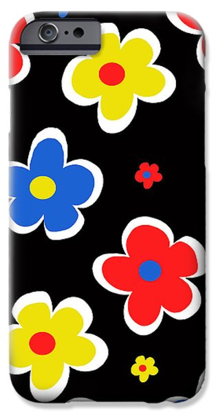 Louisa iPhone Cases - Junior Florals iPhone Case by Louisa Knight