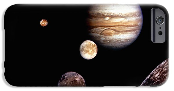 Galilean Moon iPhone Cases - Jupiter System Montage iPhone Case by Stocktrek Images