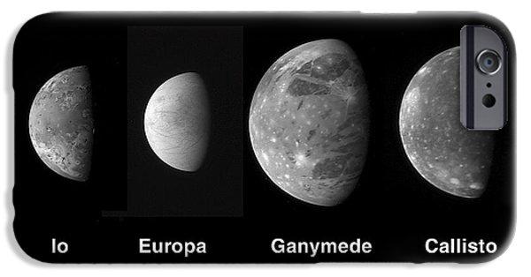 Galilean Moon iPhone Cases - Jupiters Galilean Moons iPhone Case by Stocktrek Images