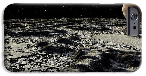 Concept Digital iPhone Cases - Jupiters Moon, Europa, Covered iPhone Case by Ron Miller