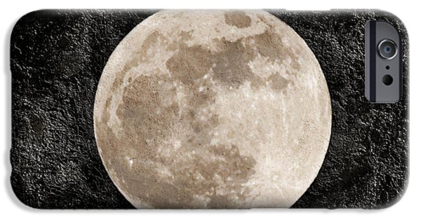 Super Moon iPhone Cases - Just A Little Ole Super Moon iPhone Case by Andee Design