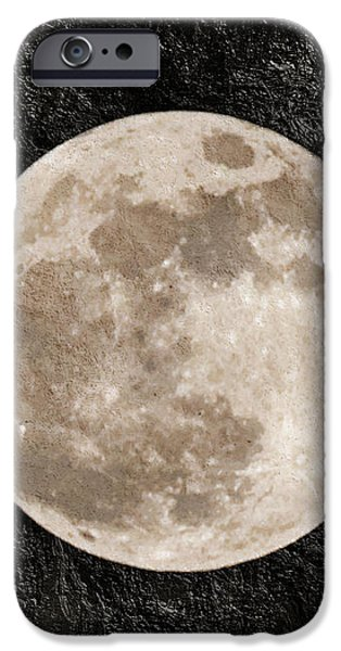 Just A Little Ole Super Moon iPhone Case by Andee Design