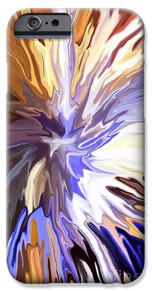 Concept Mixed Media iPhone Cases - Just Abstract IV iPhone Case by Chris Butler