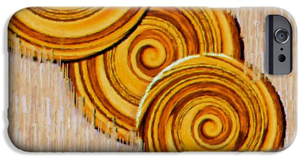 Contemplative Mixed Media iPhone Cases - Just Bread iPhone Case by Pepita Selles
