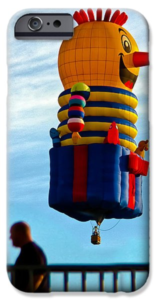 Just passing through  Hot Air Balloon iPhone Case by Bob Orsillo