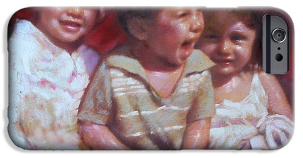 Children Pastels iPhone Cases - Just Say Cheese iPhone Case by Ylli Haruni